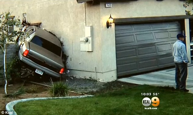 Collision: The family ran outside and called 911. they initially thought an earthquake had caused the house to shake