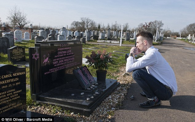 'Disgusted': Janis Winehouse hit out at the former drug addict for visiting the cemetery where his ex-wife is buried for the first time since her untimely death at the age of 27 three years ago