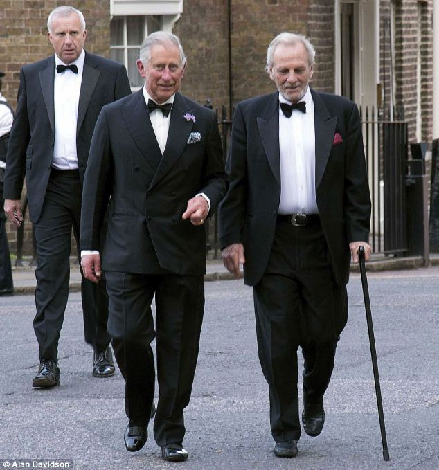 Black tie: The Prince and his brother-in-law arrive together at the Ormeley environmental and conservation charity dinner at Bridgewater House in June last year