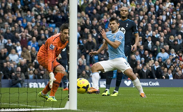 Thrashing: Tottenham were flattened earlier on in the season by Manchester City who beat them 6-0