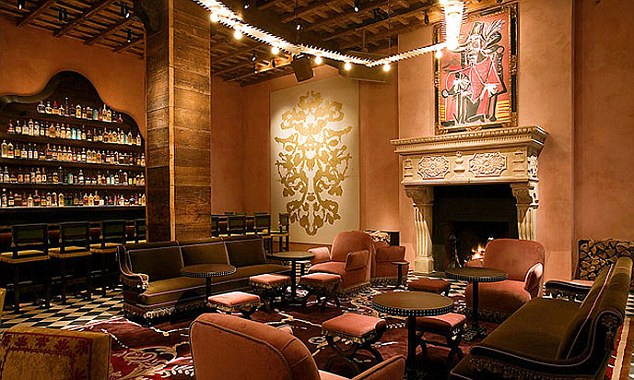 Night spot: Inside the exclusive Rose Bar at the Gramercy Park where Mr Shand had been drinking