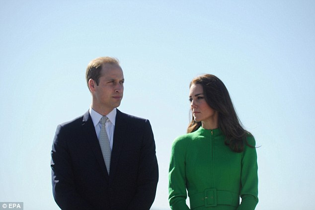A sad day: The duke and duchess of Cambridge are in the final leg of their tour of Australia and New Zealand and said their thoughts were with the Duchess of Cornwall and her family