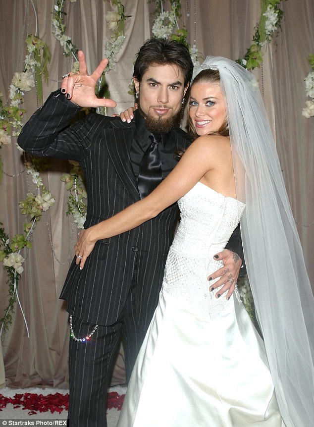 Divorced: Dave and Carmen - who met in 2000 - famously chronicled their 2003 nuptials on their MTV reality series 'Til Death Do Us Part