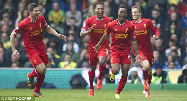 On the up: If Liverpool win the Premier League title this season it will only strengthen them