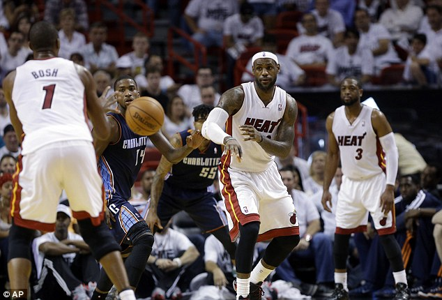 Close shave: LeBron James' 32 points helped the Miami Heat hold off the Charlotte Bobcats