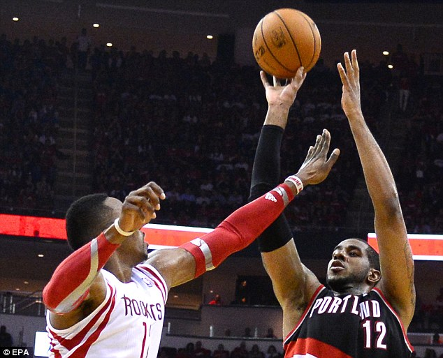 Form: LaMarcus Aldridge scored 43 points as Portland took command of their series against Houston