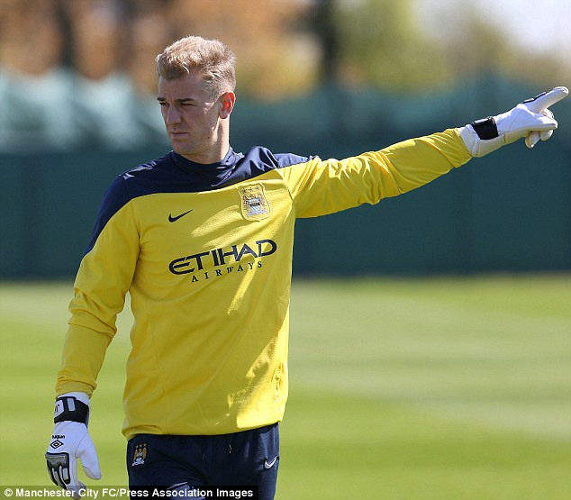 That way to the Middle East: Joe Hart and James Milner will not feature for Manchester City in their friendly