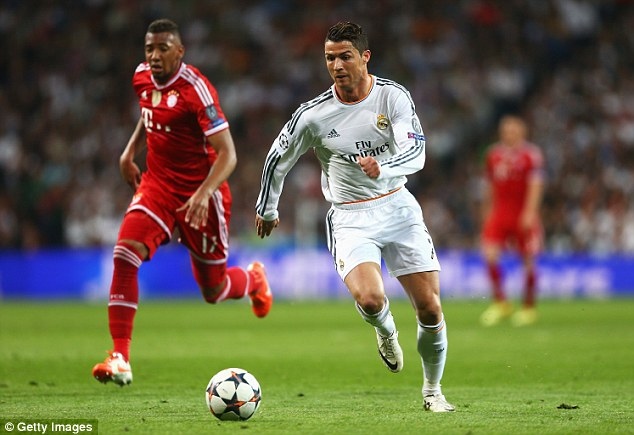 Feeling good: Real Madrid forward Cristiano Ronaldo says he did not feel any discomfort on his return from injury against Bayern Munich