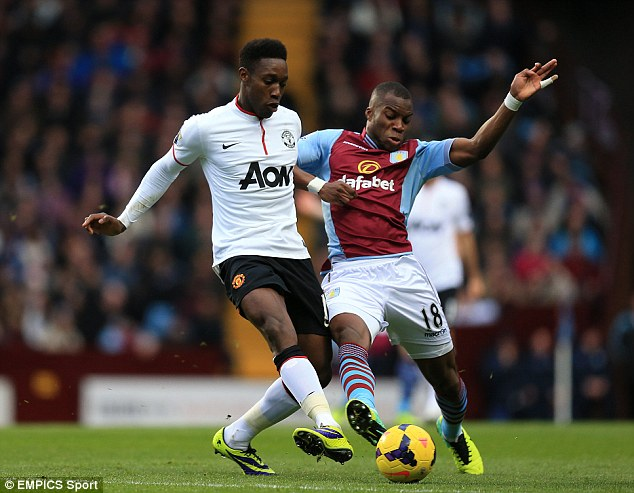 Frustrated: Yacouba Sylla (right) wants more first-team opportunities at Aston Villa