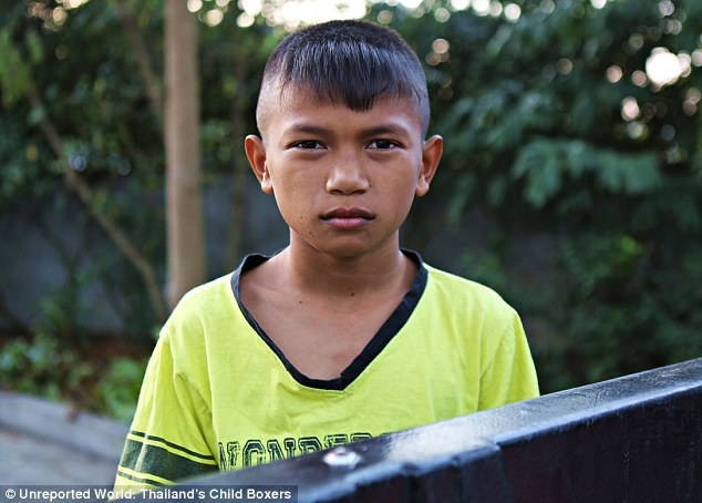 The competition: Nat will face 12-year-old Nong Em who won his first fight with a knock out aged seven