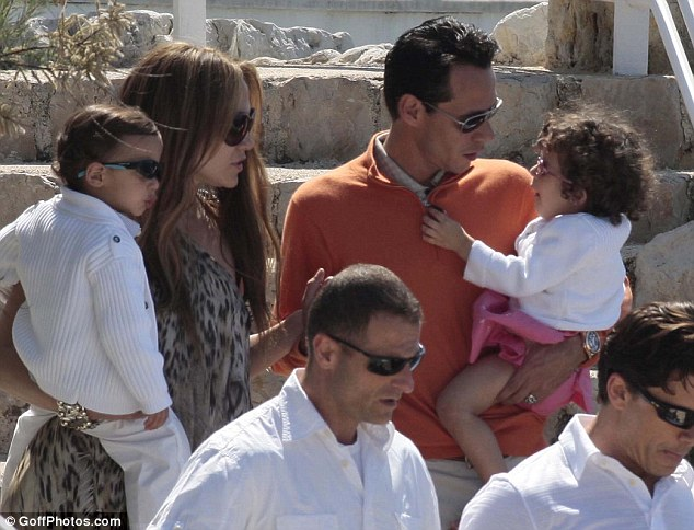 He has a lot of kids: With Jennifer and their twins during a vacation in France in 2010