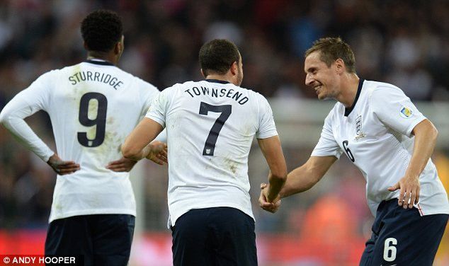 Looking ahead: Jagielka will have a spot reserved in Roy Hodgson's England squad for the World Cup