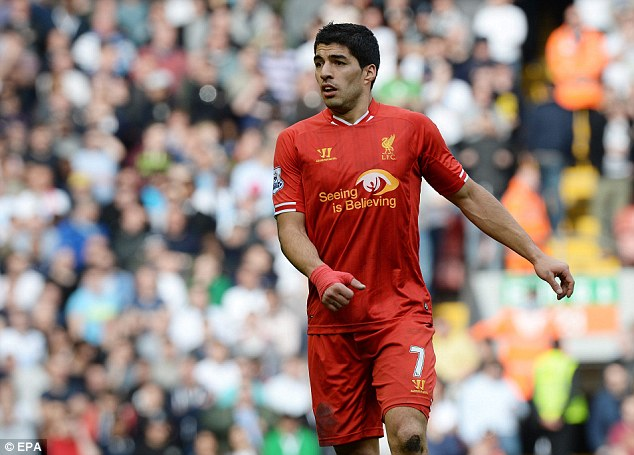 Talisman: They will find it harder to deal with Luis Suarez who is the Premier League's top goalscorer