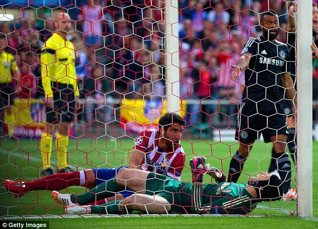 Big blow: Petr Cech was also injured against Atletico Madrid and will miss the rest of the season