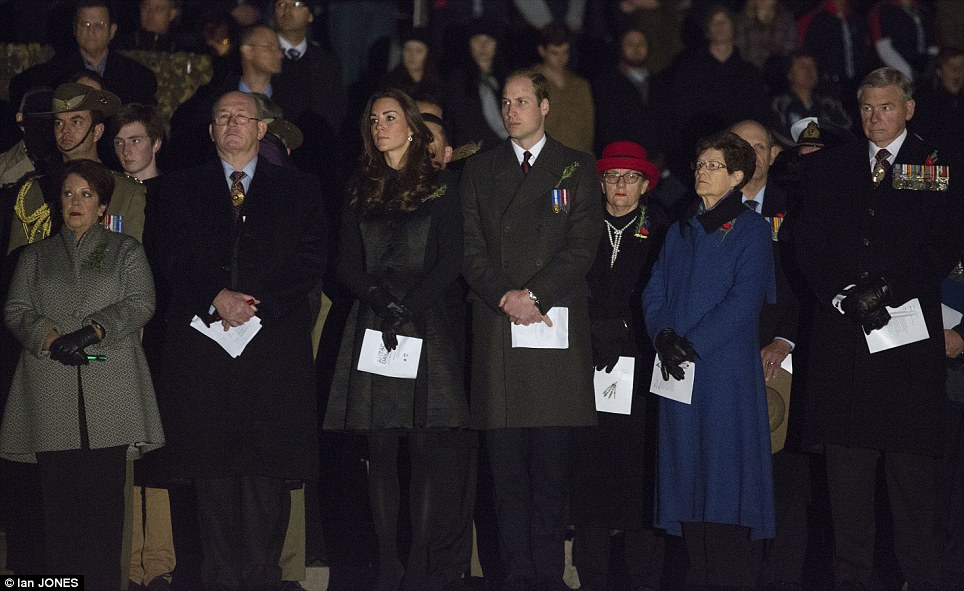 The royal couple stood next to Governor General Sir Peter Cosgrove and Lynne Cosgrove (left)