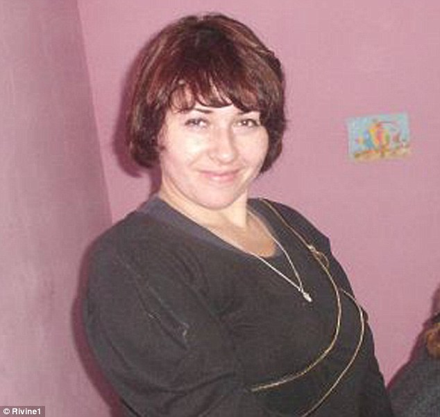 Ignored: Tatyana Ivanyuk, 34, said she when she visited the police station, she was mocked for speaking Ukrainian