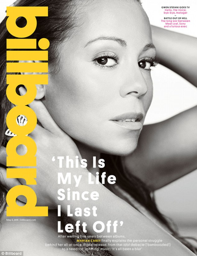 She's back! Mariah Carey is laid bare on the cover of Billboard as she opens up about her long awaited 14th album