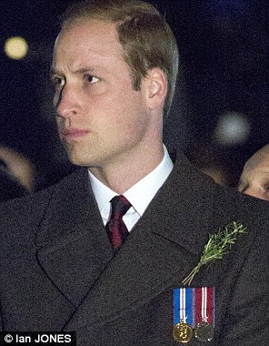 The Duke of Cambridge wore two jubilee medals during dawn service