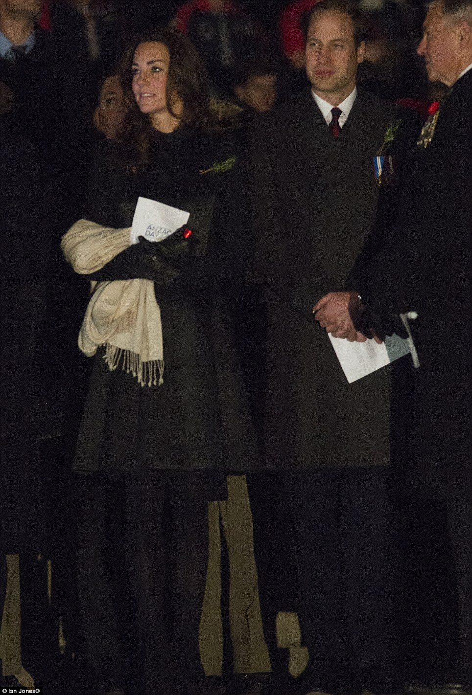 Kate and William both wore a sprig of rosemary traditionally worn by Australians and New Zealanders on their main remembrance event