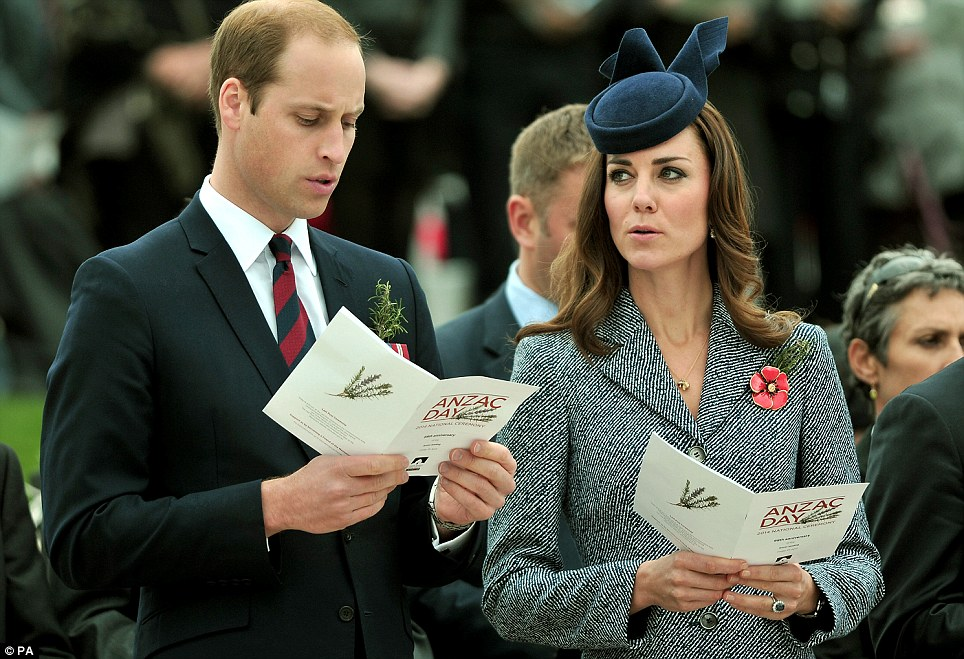 Musical: The Duke and Duchess joined the crowd in singing along to the O Valiant Hearts hymn