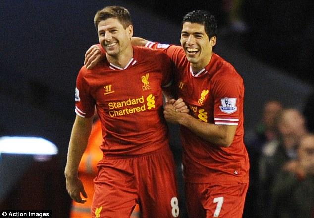Pals: Suarez insists Gerrard helped him through a tough period in the summer months