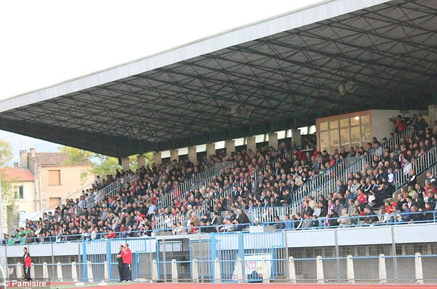 Setting: Luzenac were forced to move from their tiny one-stand ground to a stadium in Foix (above)