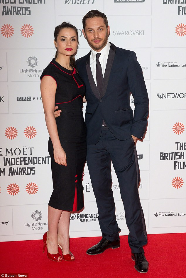 Mr and Mrs Hardy? Tom had nothing but kind words to say about his gorgeous fiancee while promoting Locke in New York