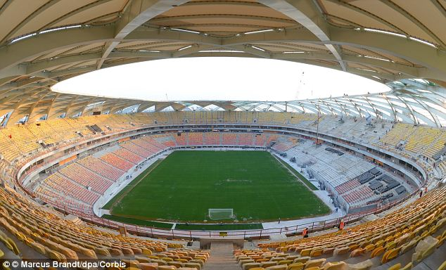 World Cup excitement: England will play in the Arena da Amazonia in Manaus, Brazil