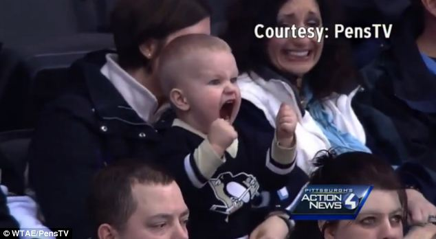 Tyler Avolia's heartfelt reaction to a goal by the Pittsburgh Penguins was captured when his mother took him to a game at the Consol Energy Center in the city