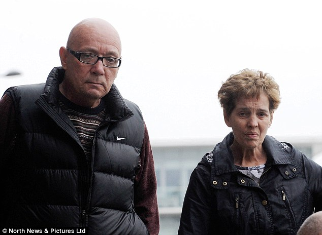 Guilty: Alfred Wells and Patricia Marshall, photographed outside Newcastle Crown Court, pleaded guilty to benefit fraud after swindling more than £42,000 by lying about their savings