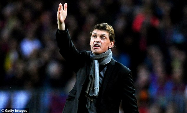 Catalan: Vilanova was appointed Barca manager at the end of the 2011-2012 campaign