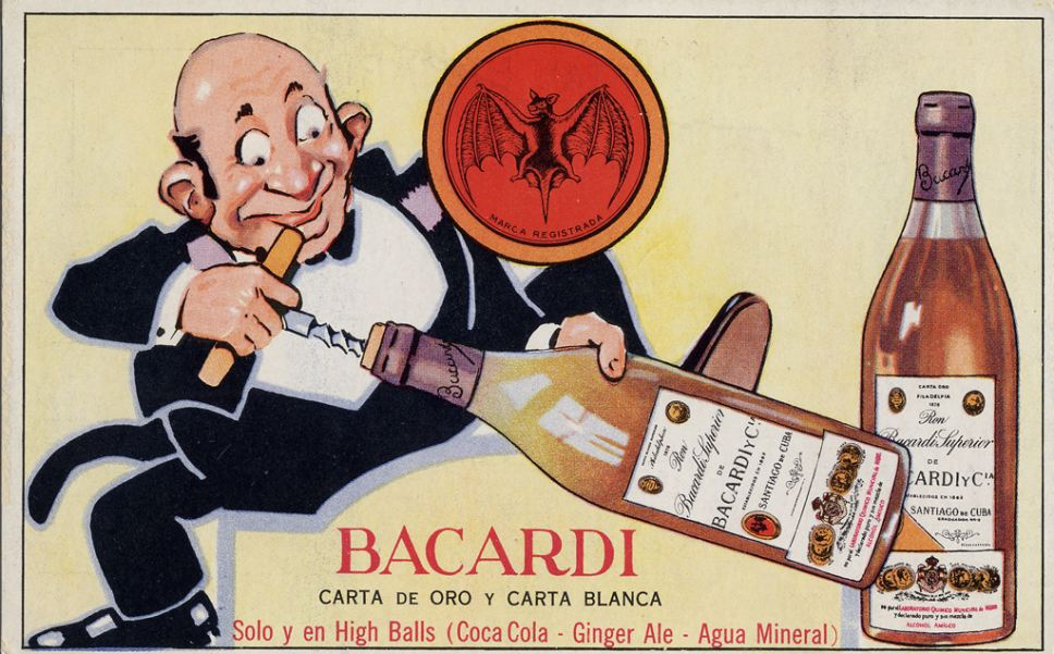This postcard was produced in the 1940s to promote Bacardi