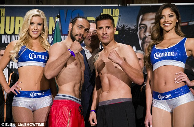 Main event: Keith Thurman (left) and Julio Diaz will face off in California on Saturday night