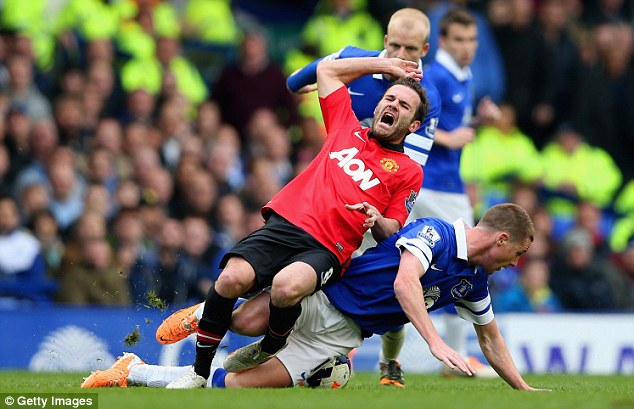 Felled: Juan Mata hasn't had the desired effect since his £37million move from Chelsea