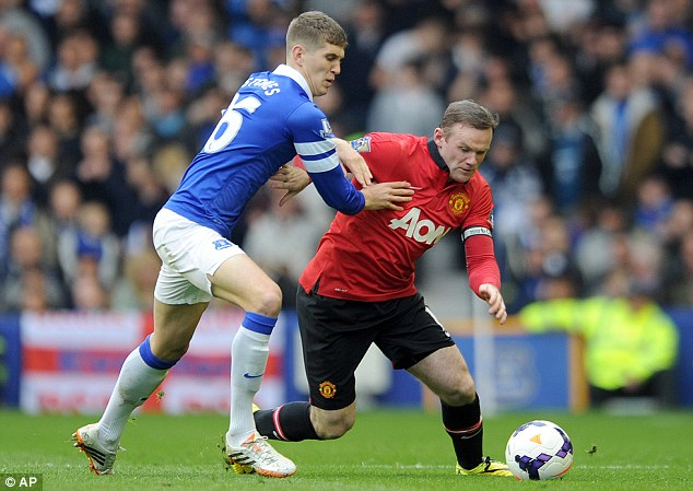 Man in the middle: £300,000-a-week man Wayne Rooney is the preferred central starter