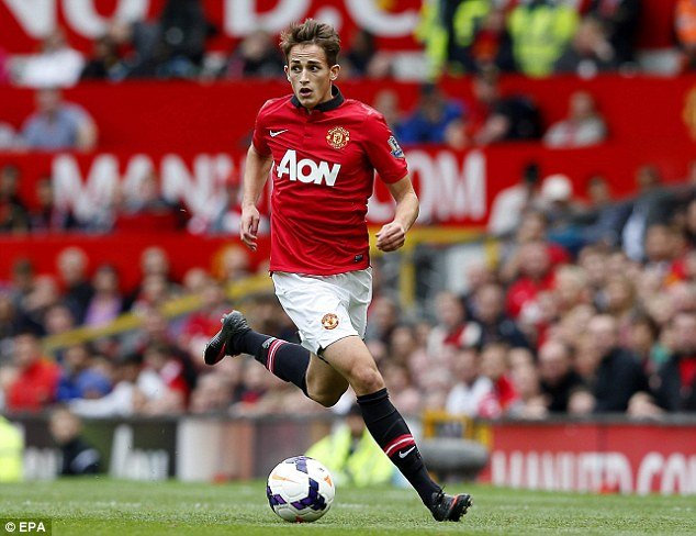 Flying away: Adnan Januzaj is a more traditional United winger that has excelled this season