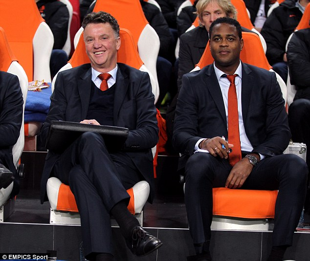 The new Old Trafford dugout? Louis van Gaal could bring in Patrick Kluivert were he to become United manager