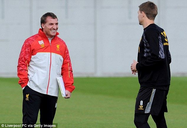 No anxiety: Brendan Rodgers had claimed that his players were loving his life at the top