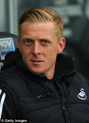 Watching brief: Swansea boss Garry Monk looks on during the match with Villa