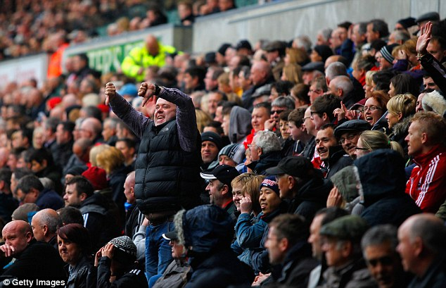 Message sent: A fan in the Liberty Stadium gives his verdict on the game between Swansea and Villa