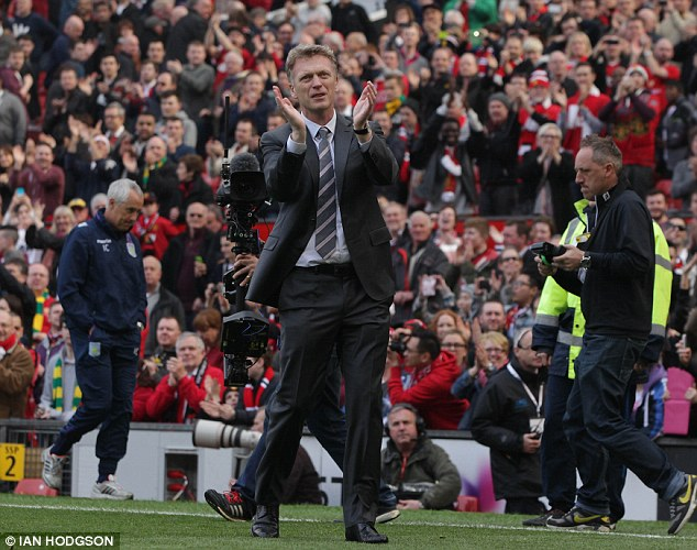 Gone: Moyes was sacked by the club on Tuesday, with Ryan Giggs placed in interim charge