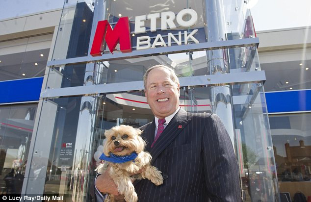 Success: A survey has found that 78 per cent of Metro's new customers are sufficiently impressed by the quality of its service that they are happy to promote it to friends. (Pictured: Metro banking boss Vernon Hill)