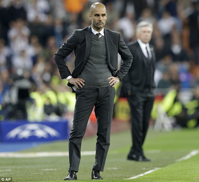 Criticism: Pep Guardiola came under fire after Bayern Munich's defeat by Real Madrid