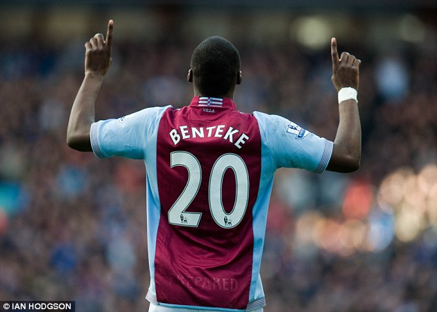 Missed: Villa are struggling without star striker Christian Benteke, who is out through injury