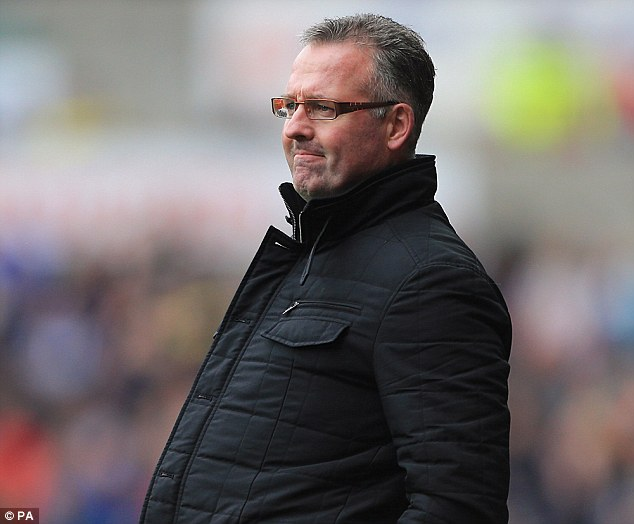 Under the cosh: Paul Lambert's Aston Villa side have been on a shocking run of results of late