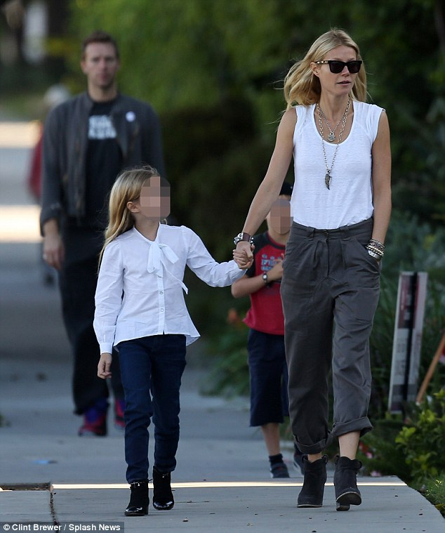 Conscious uncoupling: Gwyneth and Chris are parents to Apple, eight, and Moses, six