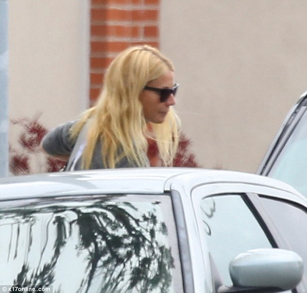 Moving on: Gwyneth was spotted stepping into her car after apparently getting her chakras balanced in Los Angeles on Friday