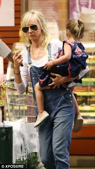 Bundle of joy: Delilah, who is Rod Stewart's first grandchild, is the adorable daughter born after Kimberly enjoyed a brief fling with Hollywood star Benicio Del Toro