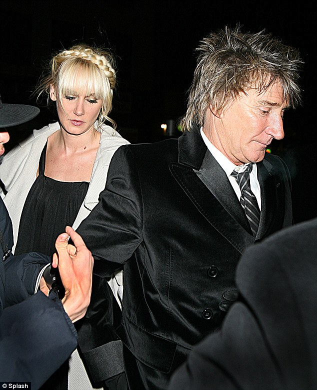 Stepping out together: Kimberly and her father Rod Stewart arrive for the Marc Jacobs Show at the Amory, New York City in 2007