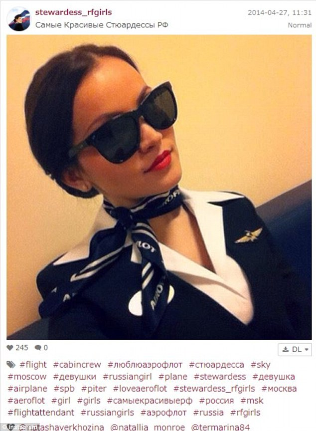 The girls, many of which appear to be from European airlines, are embracing the craze